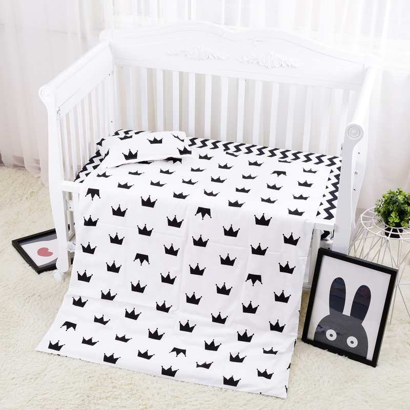 3pcs 100% Cotton Hot Baby Bedding Set Quality Baby Cot Linens Including Bed Sheet Duvet/Quilt Cover Pillowcase Non Filling cute cotton green gray baby bedding sets newborn bed for girl boy detachable cot sheet duvet cover pillowcase without filling
