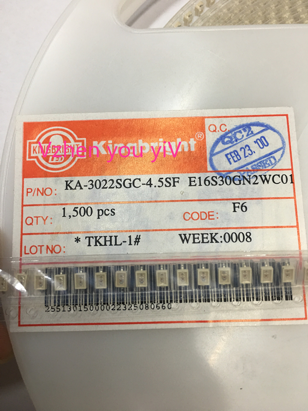 50pcs FOR Kingbright KA-30322SGC-4.5SF E16S30GN2WC01 LED Light-emitting diodes (leds), low power, green,