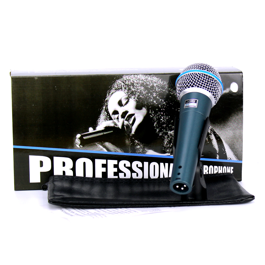 Free Shipping BETA 58 BT 58A Professional Handheld Mic Vocal Dynamic Wired Karaoke Microphone System For BETA58A Studio Sing KTV professional uhf wireless handheld microphone beta 58a handheld mic handheld transmitter