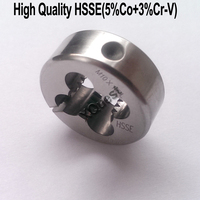 XQuest HSSE Left Hand Round Split Die M2 M2.5 M3 M3.5 M4 M4.5 LH Adjustable dies M5 M6 M7 M8 M9 M10 M12 M14 for stainless steel