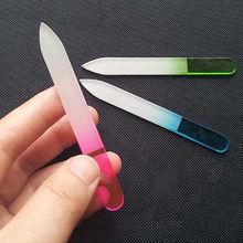 Хрустальное стекло дизайн ногтей легкий прочный буферные файлы Pro файл маникюр устройство инструмент