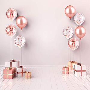 Image 4 - 20 Viên Mix Hoa Hồng Vàng Bóng Confetti Ballon Viền Trái Tim Sinh Nhật Cưới Trang Trí Balo Tặng Cho Bé Cô Dâu Sữa Tắm