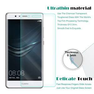 Image 2 - 2 PCS Premium Tempered Glass for Huawei P9 Screen Protector Clear Toughened protective film Case For Ascend P9 Glass Cove Phone