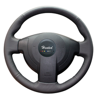 Steering Wheel Cover for Nissan QASHQAI X Trail NV200 Rogue Hand Sewing Anti slip Microfiber leather braid on the steering wheel