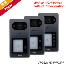 Dahua Video Intercoms IP 1 2 4 Button Villa Outdoor Station VTO3211D-P P2 P4 Optional 2MP HD CMOS camera ICR Night vision
