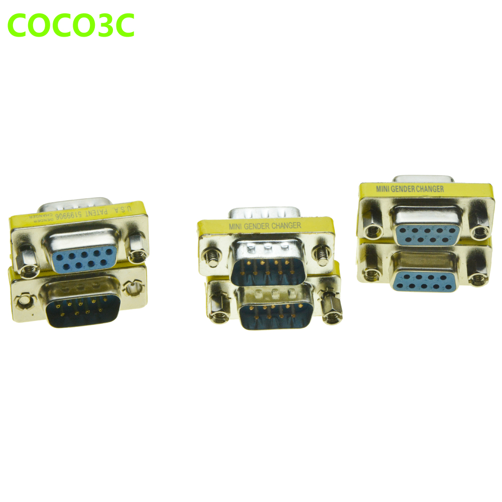 DB9 Adapter 9PIN male to male RS232 Male to Female Serial Extension Cable COM Female to female Connector