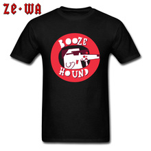 Top Quality Brand Tee Shirt Booze Hound Beer T-shirts Man Tops & Tees 100% Cotton Men Design New Arrival Print Tshirt