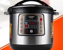 الصين نصف الكرة التجارية سعة كبيرة قدر الضغط الكهربائي 10L جهاز طهي الأرز بالضغط الكهربائي 110-220-240