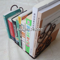 Iron crafts /metal book holder stand decorative bookend portable read book stand / books carriage Home furnishings