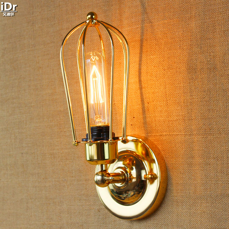 Industrial retro light fixtures Jane European American country style interior aisle lamp single head Wall Lamps  OLU-0046 american country industrial retro bar cafe wall lamp wall lamp iron double balcony aisle