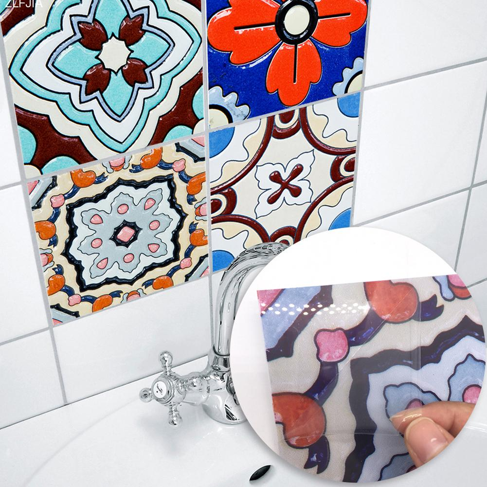 10pcs/set New Art Tile Sticker Turkey Style Simple Decor Bathroom ...