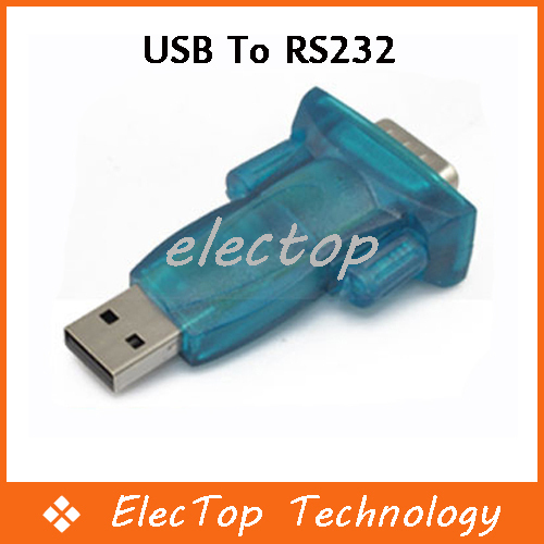 USB to RS232 Serial 9 Pin Convert Adapter PC PDA Wholesale 100pcs/lot
