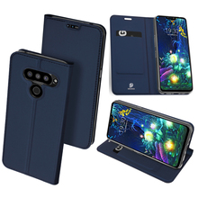 Original Dux Ducis Pu Leather Case For Lg V50 Thinq 5g Coque Luxury Thin Flip Wallet Cover Phone Cases
