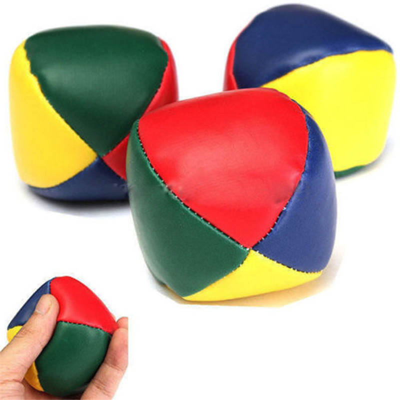 4pcs Juggling Balls Set Fun Soft Classic Leather Juggle Beanbags Party Toys For Kids Children 2019 New Arrival Online Discount Toys & Hobbies