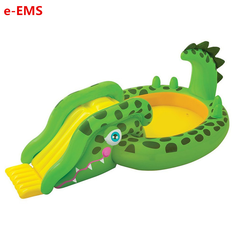 US $239.99 30% OFF|Inflatable Crocodile Swimming Pool Sliding Board  Fountain Pool Kids Sea Ball Pool Thicken Paddling Pools G2060-in Inflatable  ...