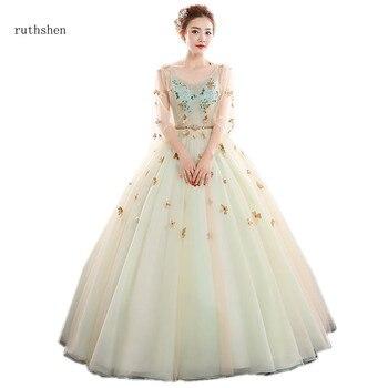 e863e6d22 Ruthshen 2018 nueva bola Vestidos Para vestidos de quinceañera tres cuartos  mangas vestido de baile Vestidos de quinceañera 15 Anos
