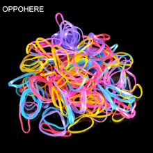 Hot sale 1000pcs/bag Child Baby Hair Holders 2018 New small package TPU Rubber Bands Elastics Girls Tie Gum Hair Accessories