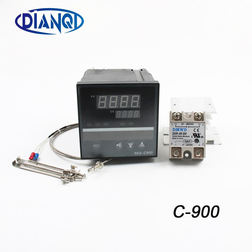 цена на Rex C900 PID Temperature Controller REX-C900 K type PT100 Universal Input Relay SSR Output 96*96mm Radiator