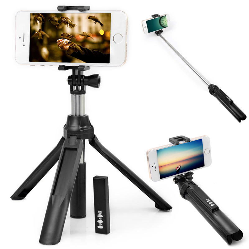 Bluetooth Selfie Stick Extendable Monopod Tripod For iPhone 6S 6 Plus Samsung S6 For Android IOS SmartPhone mini bluetooth selfie stick with led fill light tripod for smartphone extendable monopod for iphone 8 xiaomi samsung android