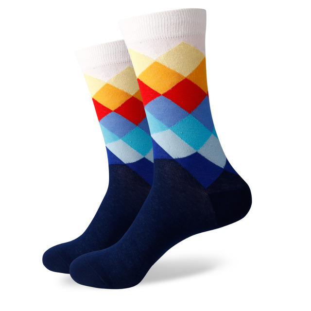 Hot Sale – 6 Pairs Of Colorful Combed Cotton Socks