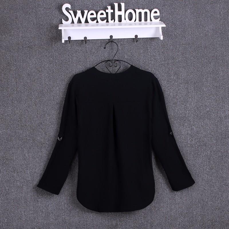 HTB1sTsvKpXXXXXyXVXXq6xXFXXXl - Chiffon Blouse Shirts Women's Long Sleeve V-Neck