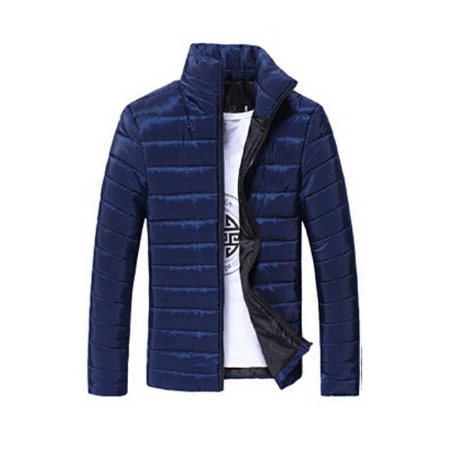 Winter Jacket Men 2016 Men Cotton Blend Coats Zipper Mens Jacket Casual Thick Outwear For Men Clothing Male Asia Size M~3XL