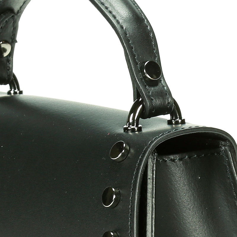 lulu milano Genuine leather   smooth leather shoulder bag  made in Italy 85285-s 5