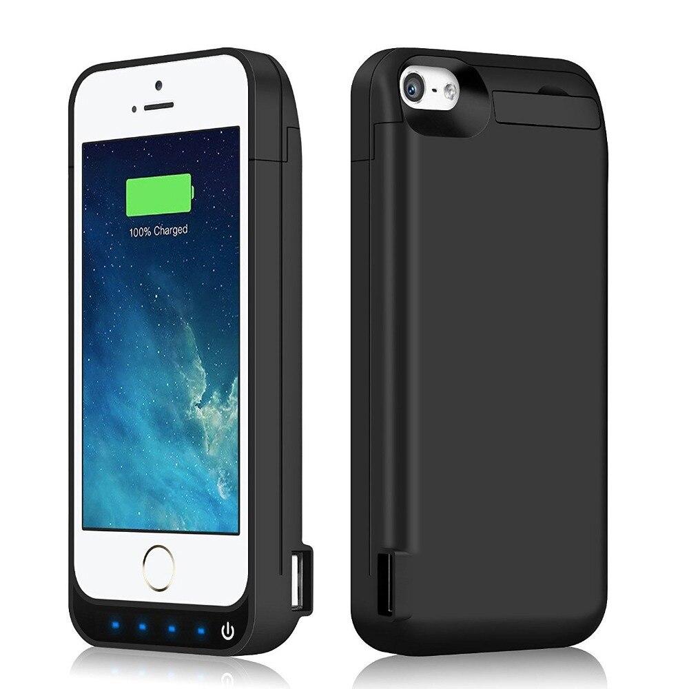 bilder für 4200 mAh Portable Backup Externes Ladegerät Fall Energienbank Pack Aufladen-kasten-abdeckung Für iPhone 5 5C 5 S SE Batterie fall