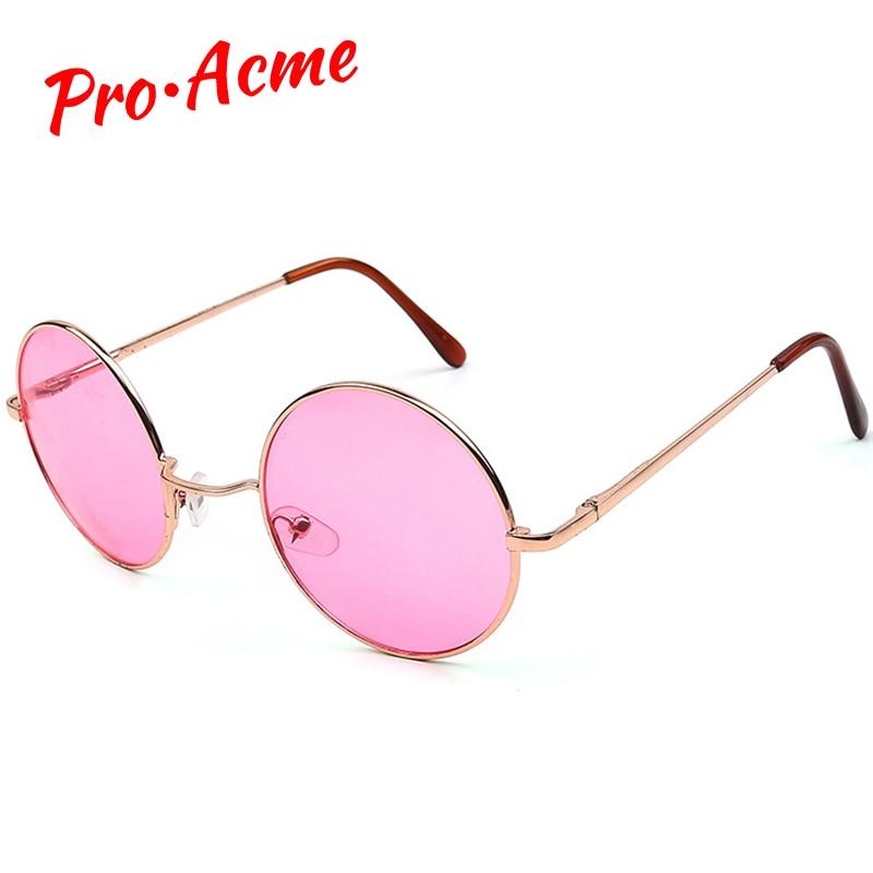 Pro Acme Retro Round Solglasögon Kvinnor Brand Designer Hippy 60S - Kläder tillbehör