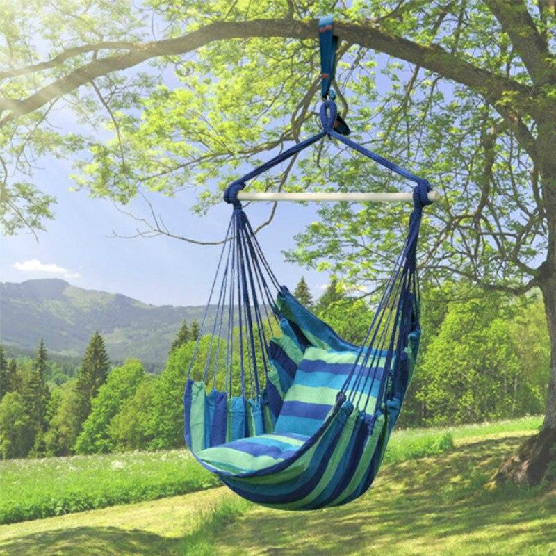 Hamac extérieur intérieur adulte berceau chaise unique balançoire balcon chaise balançoire chaise à bascule toile loisirs mode meubles