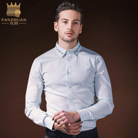 FANZHUAN Brands Clothing 2018 Spring New Men S Shirt Fashion Business Casual Self Cultivation Solid Color