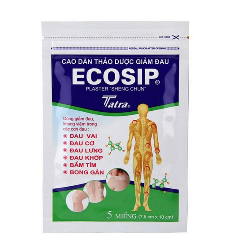 5Pcs/bag ECOSIP Treatment Osteoarthritis Bone Hyperplasia Omarthritis Rheumatalgia Spondylosis Paste Pain Relieving Patch