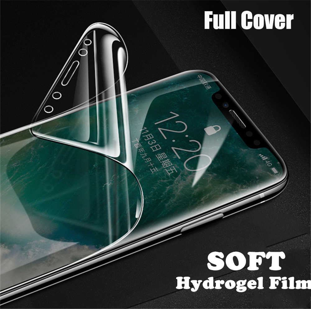 6D Full Cover Hydrogel Film For iPhone 8 7 6 6S Plus Screen Protector For iPhone XS Max XR X 7 8 Plus Protective Film Not Glass