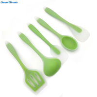 Sweettreats Utensils Heat Resistant Cooking Utensil Set Non Stick Silicone Kitchen Utensil Set High Quality Silicone