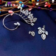 Модные женские серьги-каффы с кристаллами и микро кубическим цирконием, серьги-клипсы для свадебной вечеринки, Серьги Brincos E-638