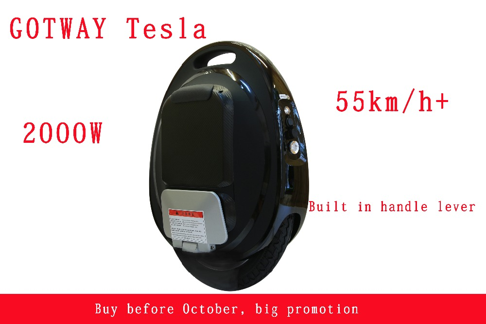 GOTWAY Tesla 16inch Electric unicycle Balance car single one wheel scooter 2000W motor 850/1020WH,life 60-80km,speed 55km/h+