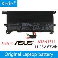 kede 11.25V 67wh Original A32N1511 A32LM9H Laptop Battery For Asus ROG G752 G752VL G752VT G752VM G752VT G752VY 0B110 0037000