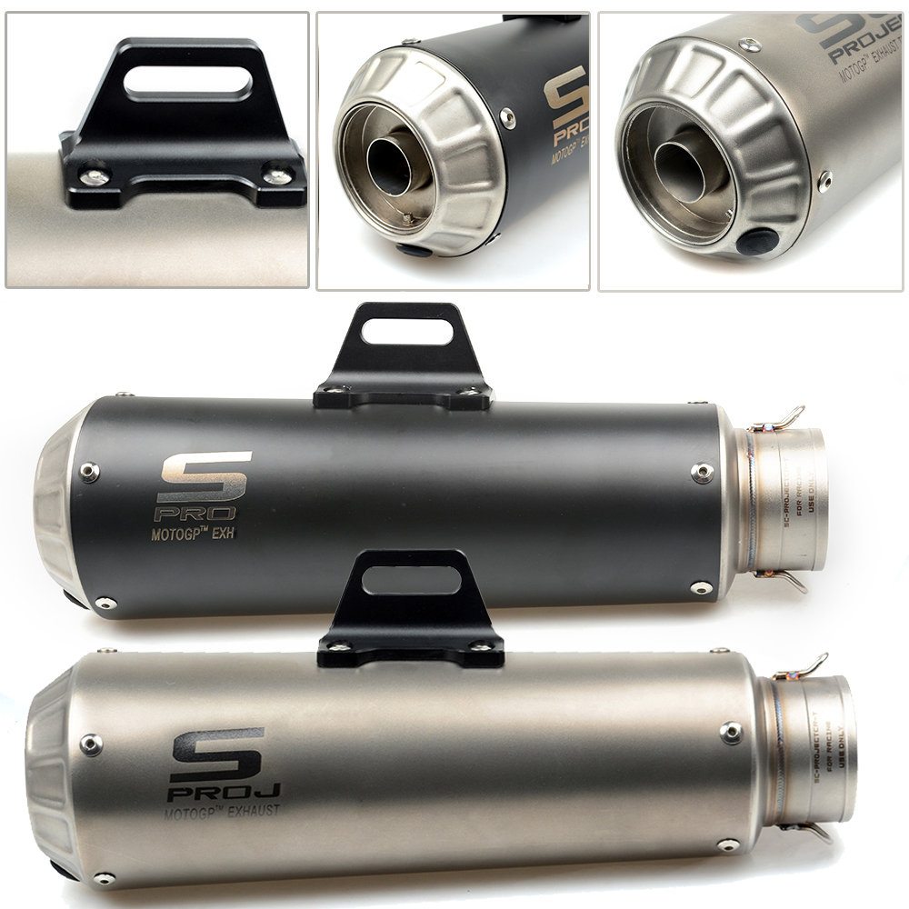 Laser SC Motorcycle Exhaust Pipe Scooter Modified SC exhaust Muffler pipe DB-killer For ducati 899 959 1098 1100 1198 1199 1299 motorcycle modified muffler for sc exhaust pipe laser standard carbon fiber exhaust 61 caliber exhaust large displacement