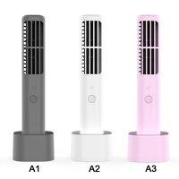 USB Dikey Bladeless Fan Mini Klima Fan Masası Soğutma Fanı Ventilatör Ev Ofis için Yaz Ventilatör Aletleri