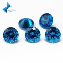 1 ~ 3 мм оптовая продажа темно синий кубический камень 5a блестящий
