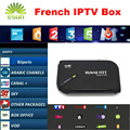 Andriod tv vía satélite receptor con 1 año neo/qhdtv iptv iptv árabe francés iptvsupport bisskey cccam newcam dvb-s2 set top box