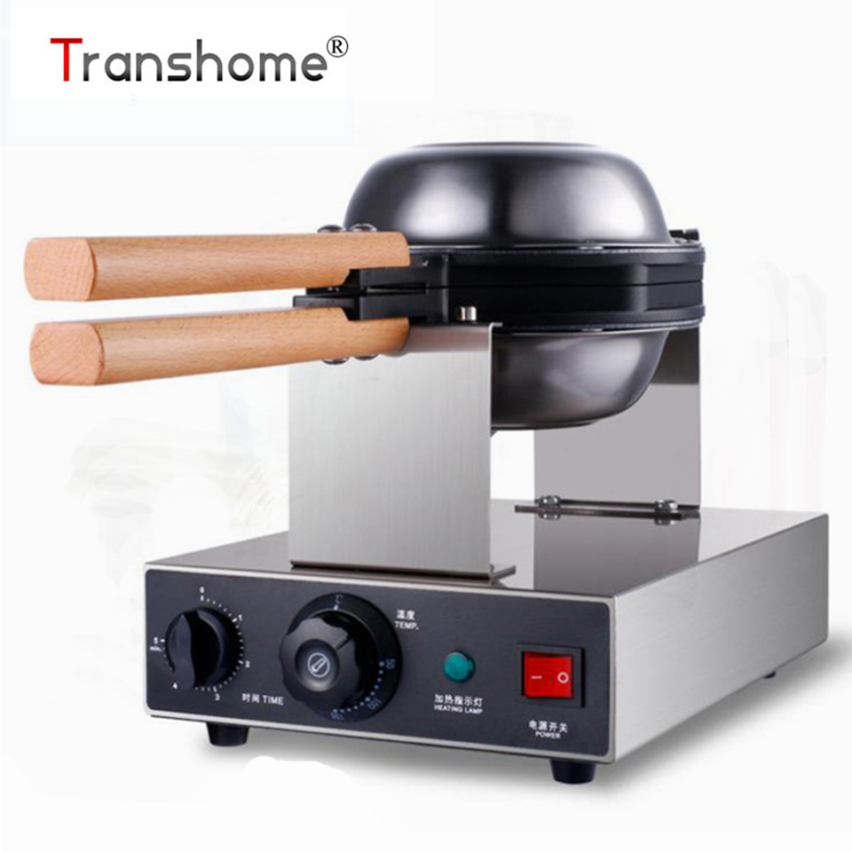 Transhome Puff Cake Waffle Maker Machine 220V Commercial Electric Chinese Hong Kong Bubble Egg Cake Oven