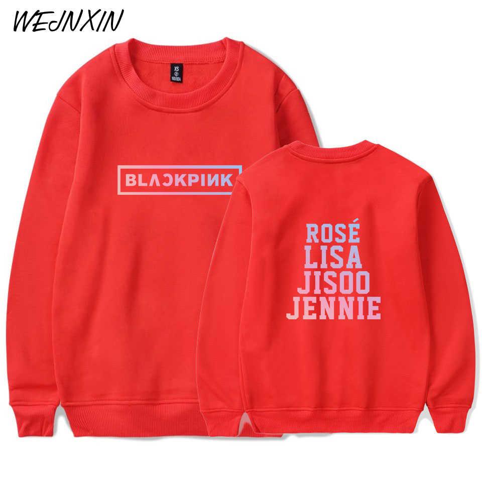 WEJNXIN Kpop Blackpink Hoodies Women Men Team Member Name Capless  Sweatshirt Girl Group Kpop Blackpink Fans Support Hoodie
