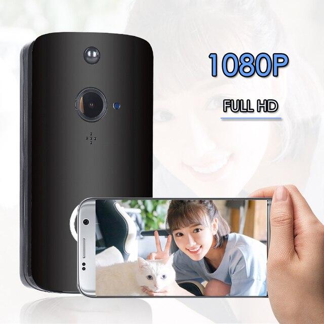 FCCWO Full HD 1080P WIFI kapı zili akıllı IP kablosuz interkom kapı zili PIR hareket algılama gece görüş kapı zili güvenlik kamera
