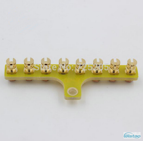 T-style Scaffolding Gold-plated Pure Copper 8Pins for High-end Tube Amplifier Large Spot ...