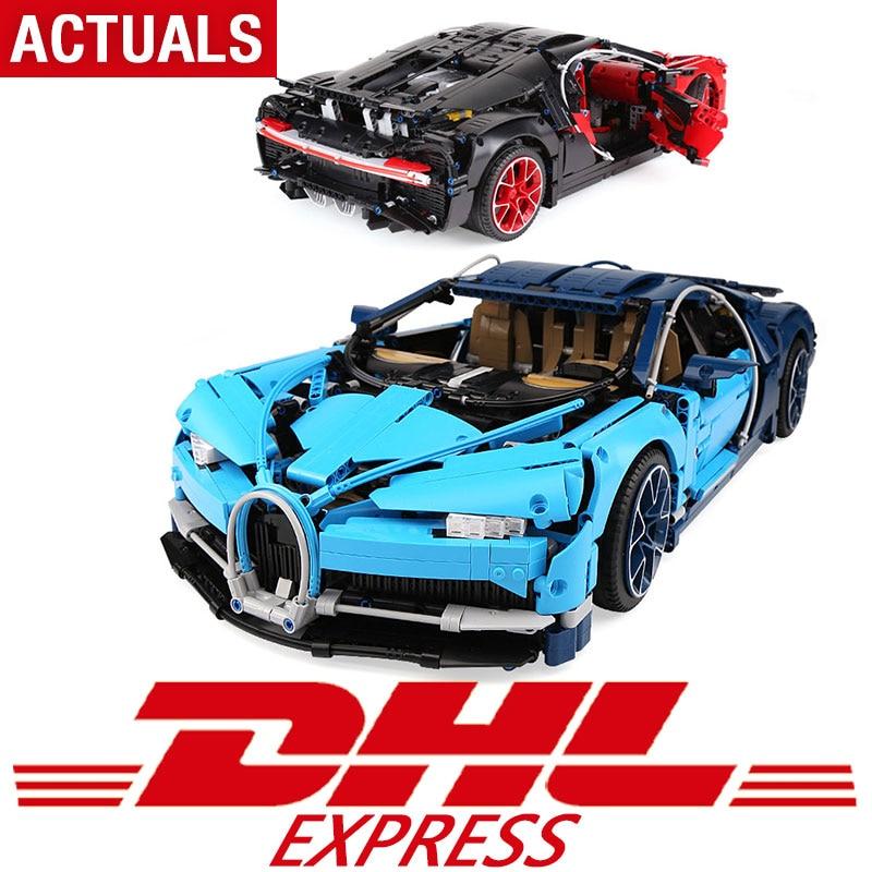 DHL технические игрушки шт. 4031 шт. Совместимость с Legoing техника 42083 Супер гоночный автомобиль модель строительные блоки кирпичи игрушки для де...