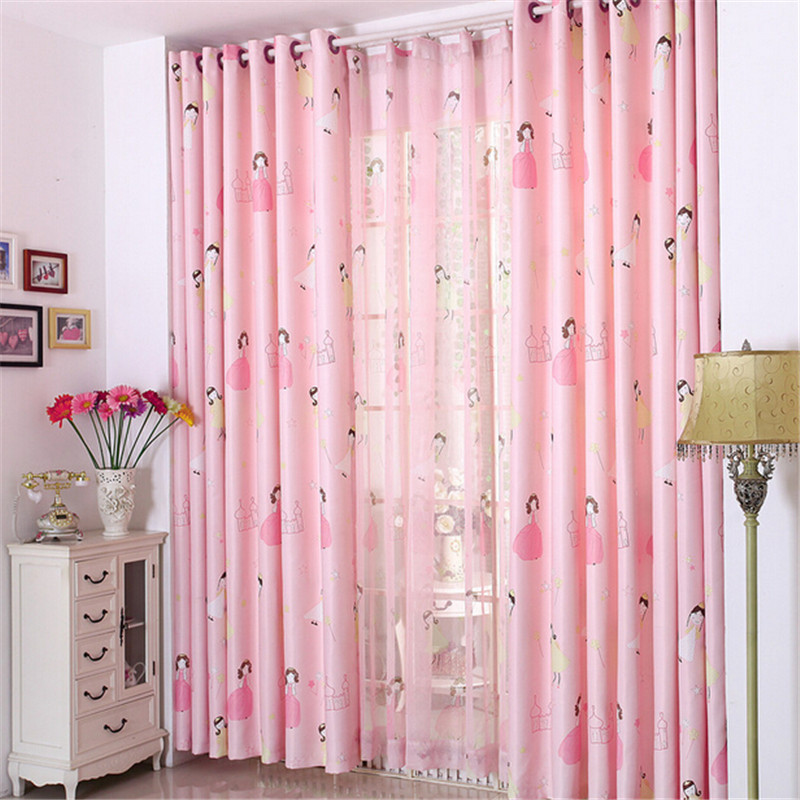 High Quality Lovely Pink Princess Window Curtains For Children/Kid/Girls Kids Room  Living Room Curtain Patterns Curtains 1PCS In Curtains From Home U0026 Garden  On ...