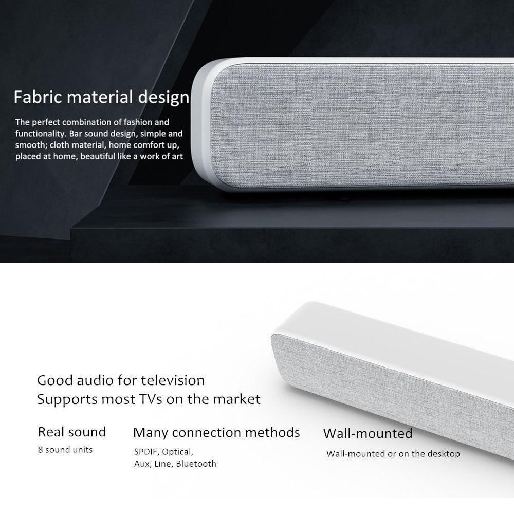 Image 4 - Original Xiaomi Mi Wireless TV Home Theater Speaker Audio Soundbar SPDIF Optical Aux Line Sound Bar Support Xiaomi Samsung LG TVSoundbar   -