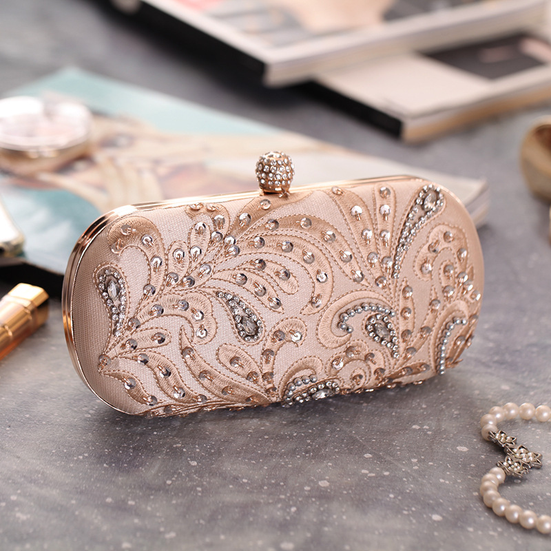 c9e544d83dbb Spring and Summer New Graceful Fashionable Embroidered Bag with Beautiful  Bead, Studded Women's Hand Craft Dinner Bag