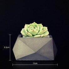 DIY Concrete Garden Flowerpot Making Mold Home Desktop Decoration Craft Succulent Plants Planter Silicone Molds for Cement pot
